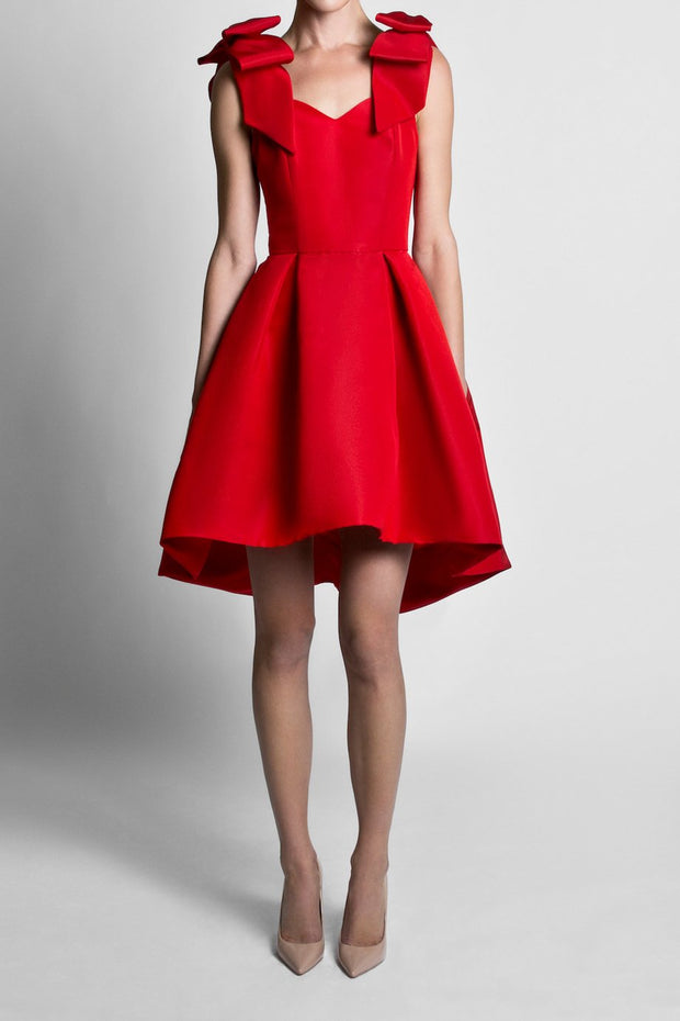Silk Faille Bow Strap Dress