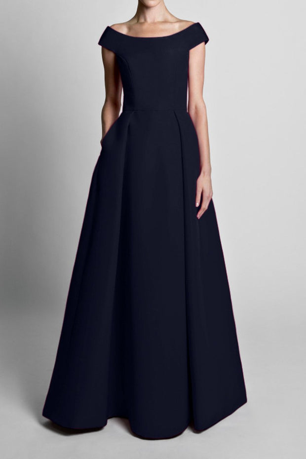 Silk Faille Off The Shoulder Ball Gown