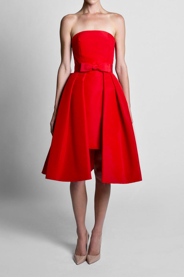 Silk Faille Mid Length Bow Convertible Skirt