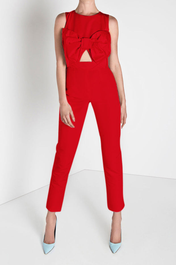 Sleeveless Bow Jumpsuit