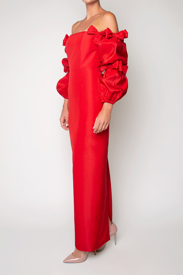 Valen Silk Faille Column Gown