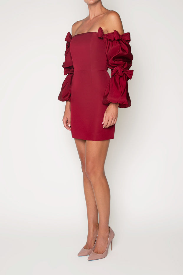 Valen Silk Faille Mini Dress