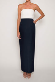 Silk Faille Column Skirt