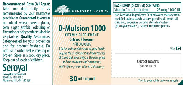 D-Mulsion ~ 1000IU Vitamin D Supplement