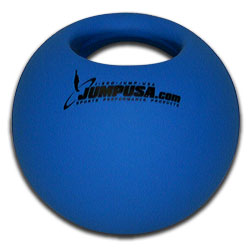 Med Bell Medicine Ball with Handle Single Grip 10 lb