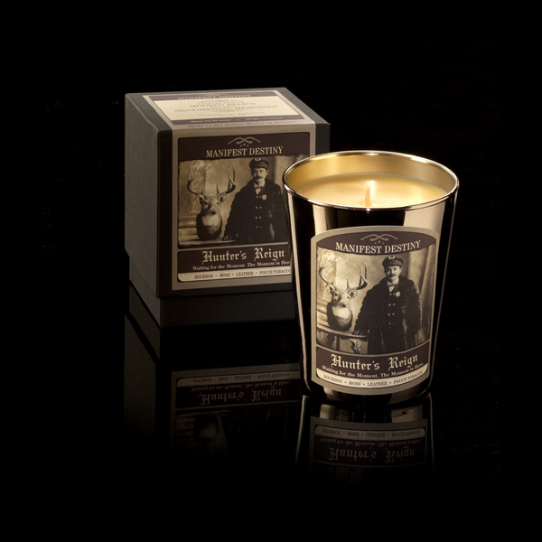 Hunters Reign Manifest Destiny Candle notes of Bourbon & Woodland