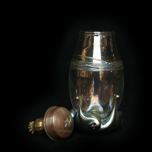 Lustre Wear Blown Glass Parfume or Pill Jar | Art Object by Evan Chambers