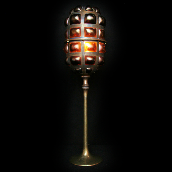 Copper & Glass Desk Lamp | Art Object by Evan Chambers