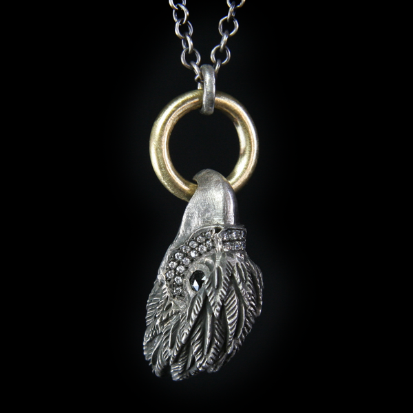 Eagle Head Pendant by Fine Jewelry Designer Jamie Joseph