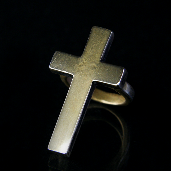 Brass Cross Ring by Shannon Koszky