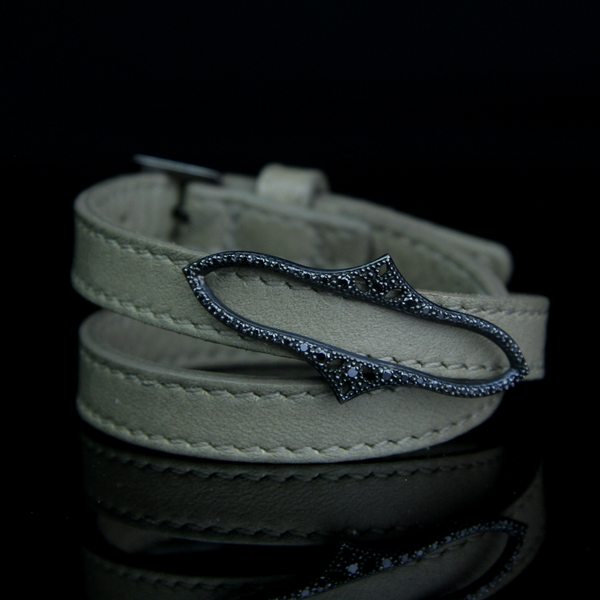 Black Diamond Buckle Bracelet
