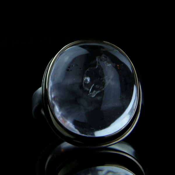 Enhydra Phantom Quartz Crystal Ring