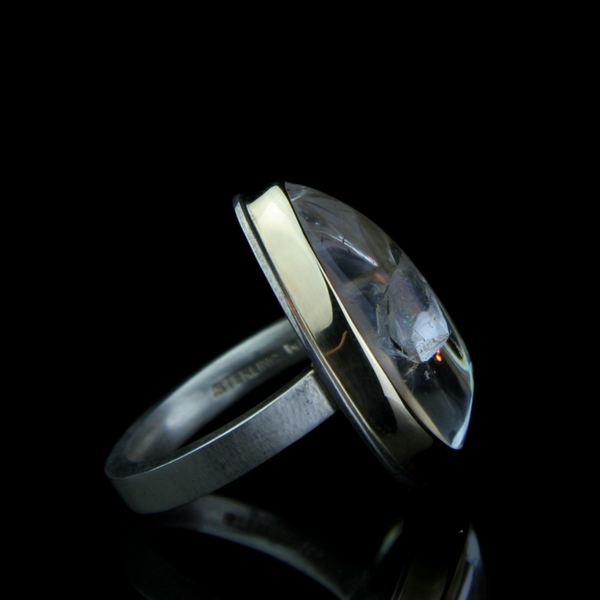 Phantom Quartz Crystal Ring by Fine Jewelry Designer Jamie Joseph