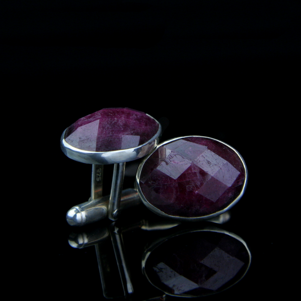 Ruby Cufflinks made by Jewelry Designer Melissa Joy Manning
