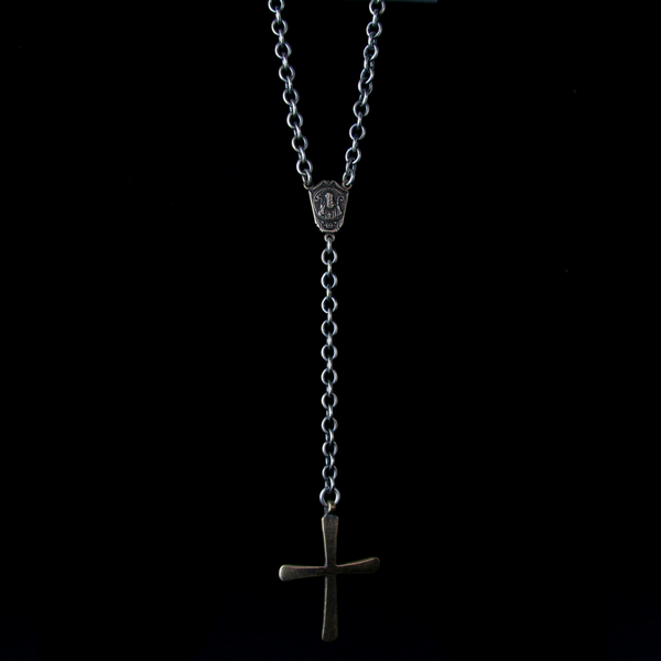 Johnny Rosary Cross Necklace