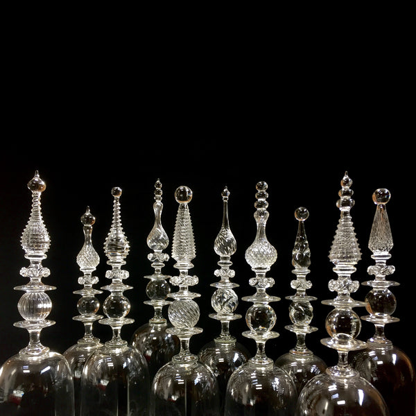 Smithsonian museum awarded glass artist Andy Paiko hand blown bell jars, reliquaries, absinthe fountians, functioning objects