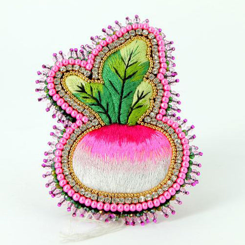 Turnip Brooch