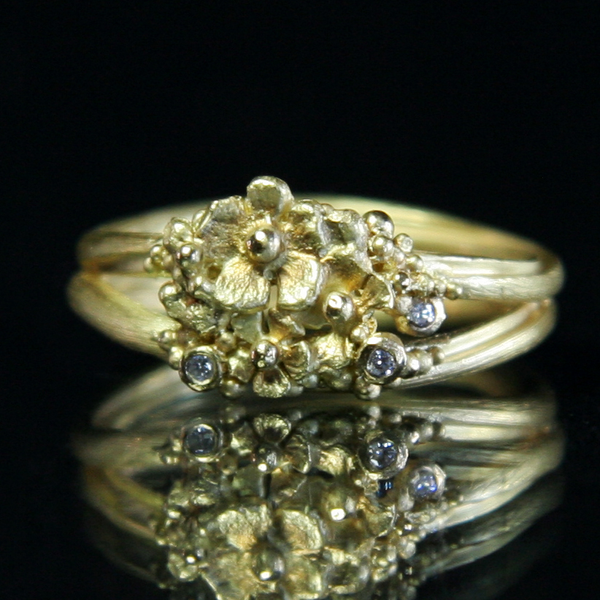 Tripple Diamond Posy Ring