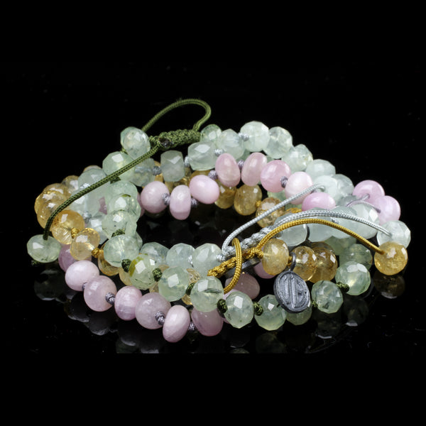 Los Angeles based jewelry desginer Joseph Brooks uses natural colored stones to create adjustable everyday bracelets for men and women