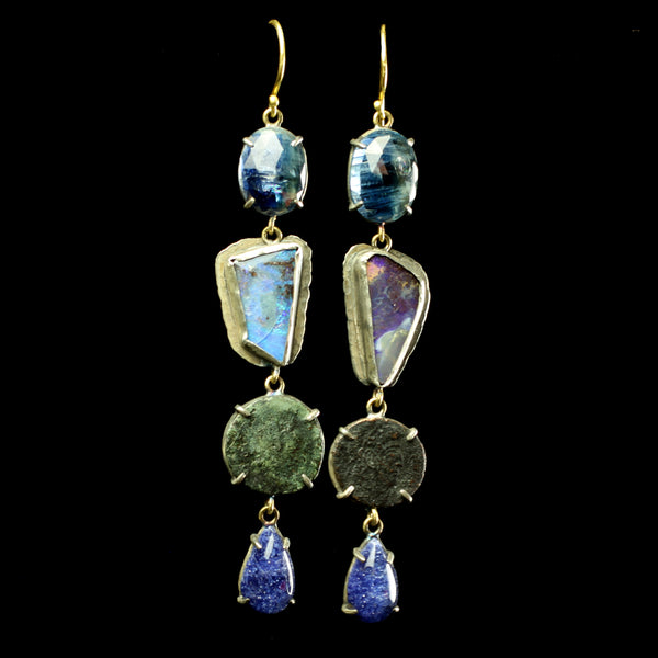 Fine jewelry designer Margery Hirschey Byzantine coin earrings