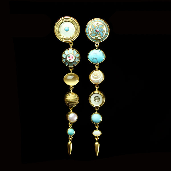 Grainne Morton Fine Designer Jewelry hand made from vintage and antique buttons and found objects for the modern Victorian Woman