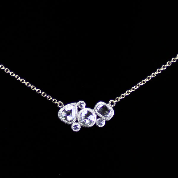 Rose-cut diamond necklace for everyday or special occasion wear crafted by fine jewelry designer Todd Pownell with TAP designs