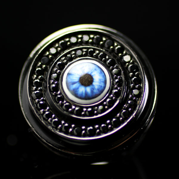 Evil Eye ring created by fine jewelry designer Matthew Campbell Laurenza for MCL also found at Neimen Markus and Bergdorf