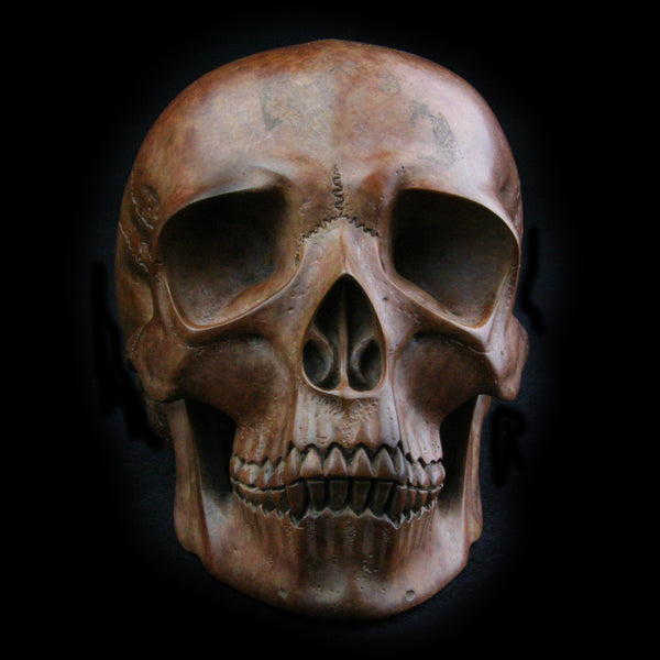 Darkened Bronze Skull