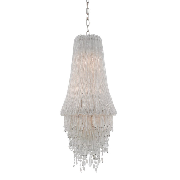 Clear Beaded Chandelier