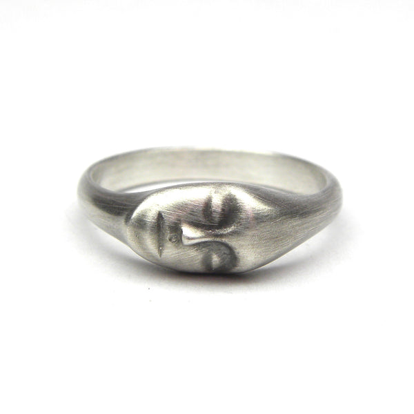 Hannah Blount fine jewelry hand made in boston stacking face ring cameo collection