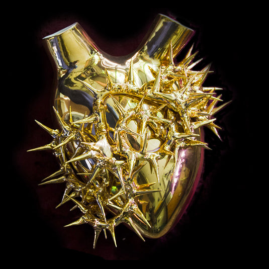 Gold Crown of Thorns Anatomical Heart