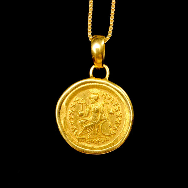 Gold Solidus Byzantine Coin