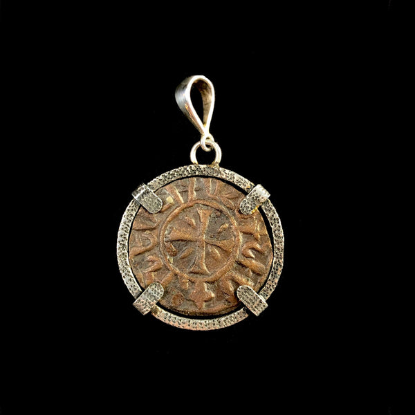 Silver Coin of the Crusades Pendant I