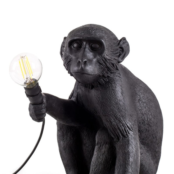 Seated Monkey Lamp