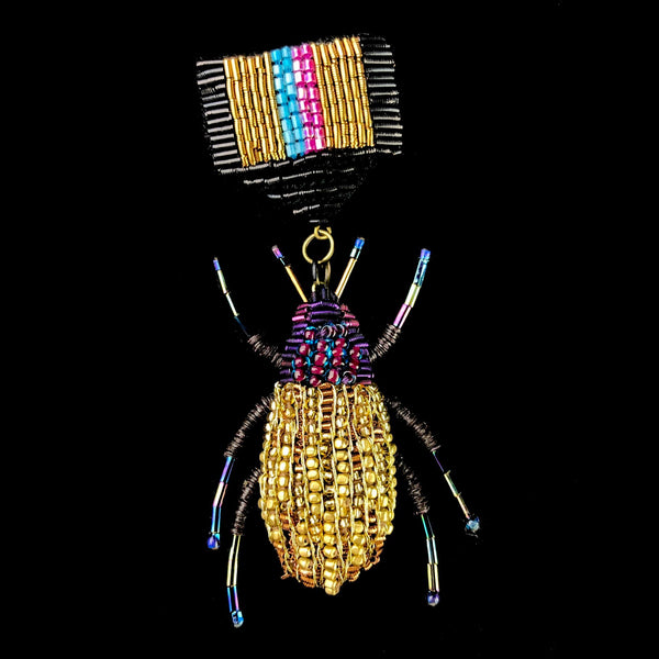 Gold Bug Medal of Honor Brooch Pin