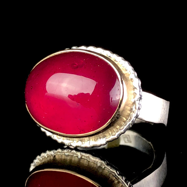 Smooth Ruby Ring