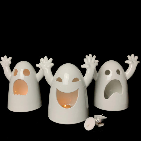Small Ghost Tea Light Holders C