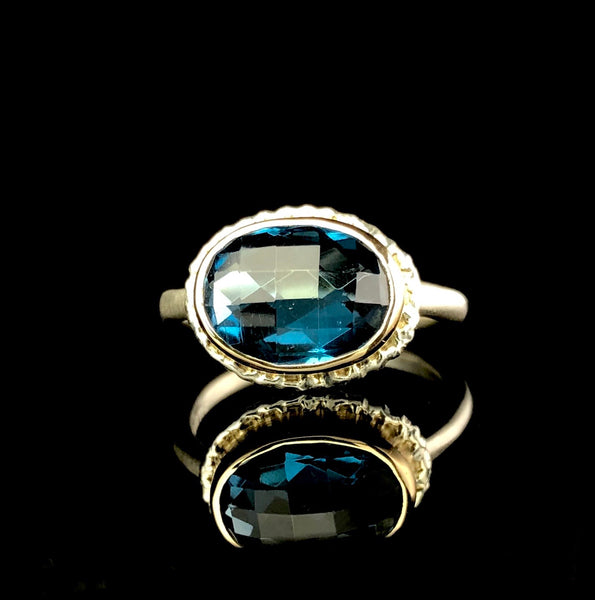 Oval London Blue Topaz Ring