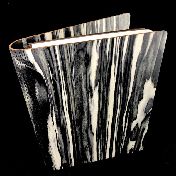 Black Marble Wood Journal- Large