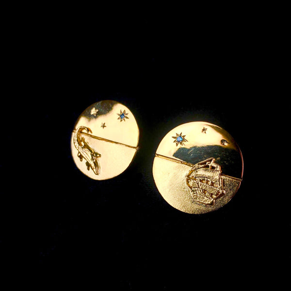 Moonlit Adventure Disk Earrings