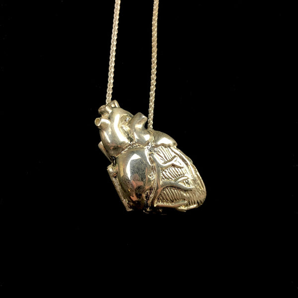 Silver Anatomical Heart Locket