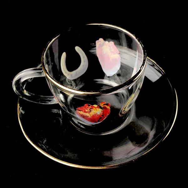 Heart, Luck and Daggers Teacup & Saucer
