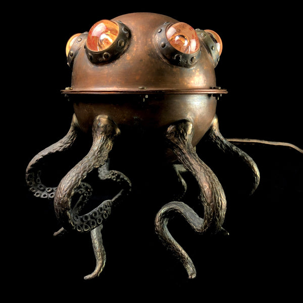 Small Octopod Lamp with Clear Glass