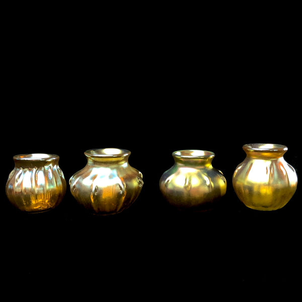 Yellow Lustreware Salt Cellar