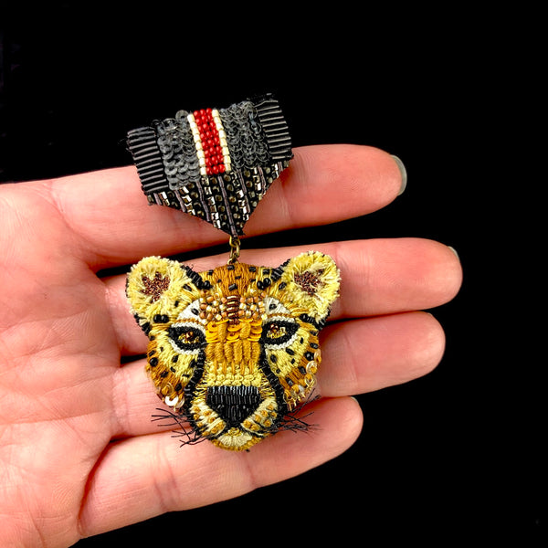 Cheetah Medal of Honor Brooch Pin