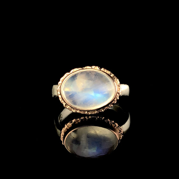 Smooth Moonstone Ring