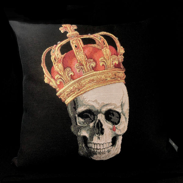 Crowned Skull Pillow