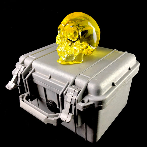 Manhattan Project Lead Glass Skull