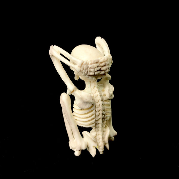 Stretching Yoga Skeleton Carving
