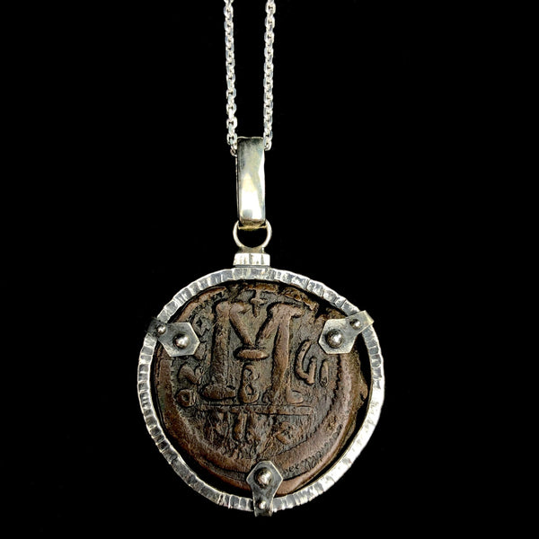 Byzantine Coin Shield Necklace